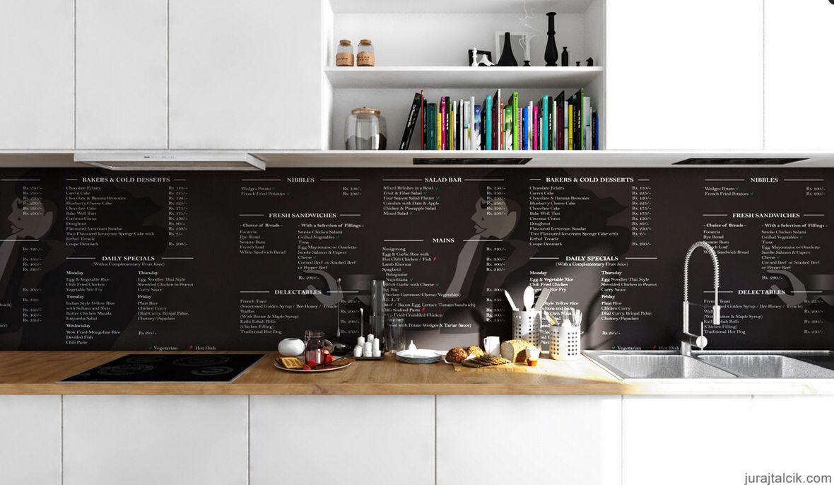 Recipe backwall