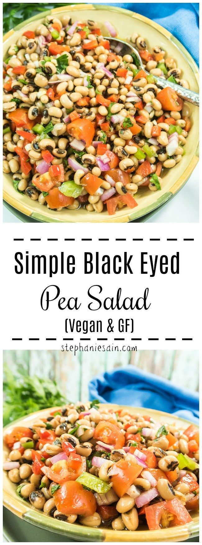 this simple black eyed pea salad is loaded with lots of