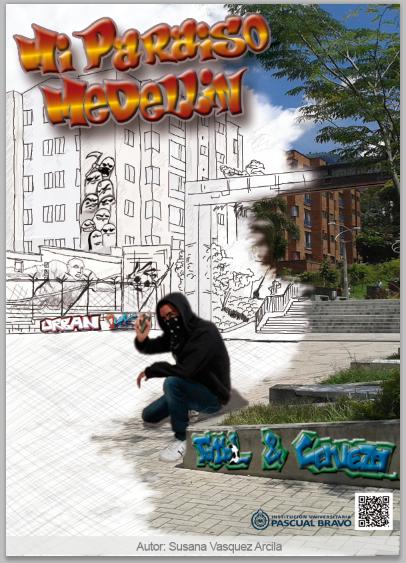 Afiche para muestra universitaria, Medellin urbano