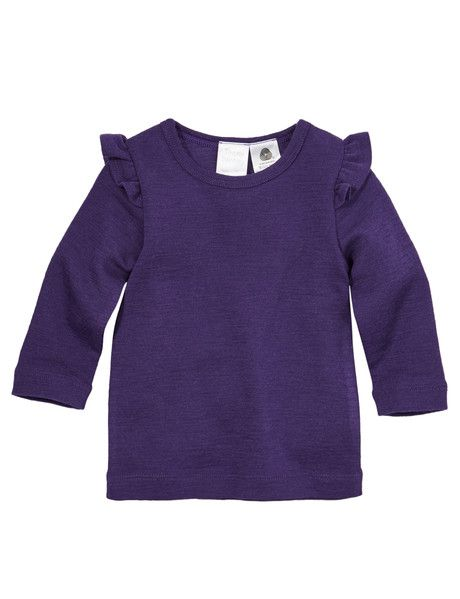 Purple Flutter long sleeve tshirt from Nanna and Pa, from NZ