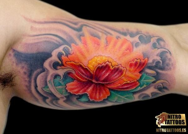 Flor De Loto Tatuaje Hombre Flowers Tattoos Pinterest Flower