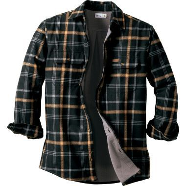Relaxed Fit Fleece-Lined Flannel Shirt Jacket | Eddie Bauer ...