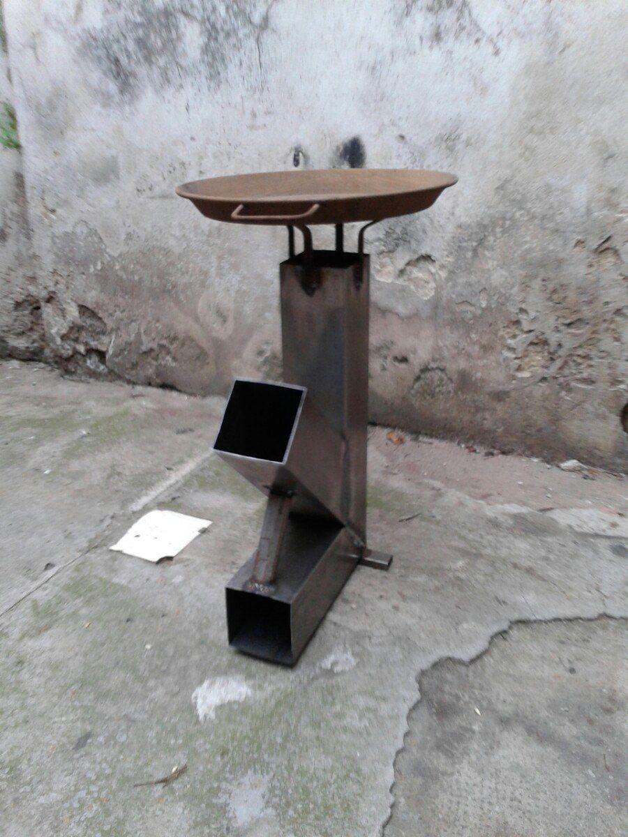 Resultado de imagen para medidas rocket stove asadores for Planos para cocina rocket