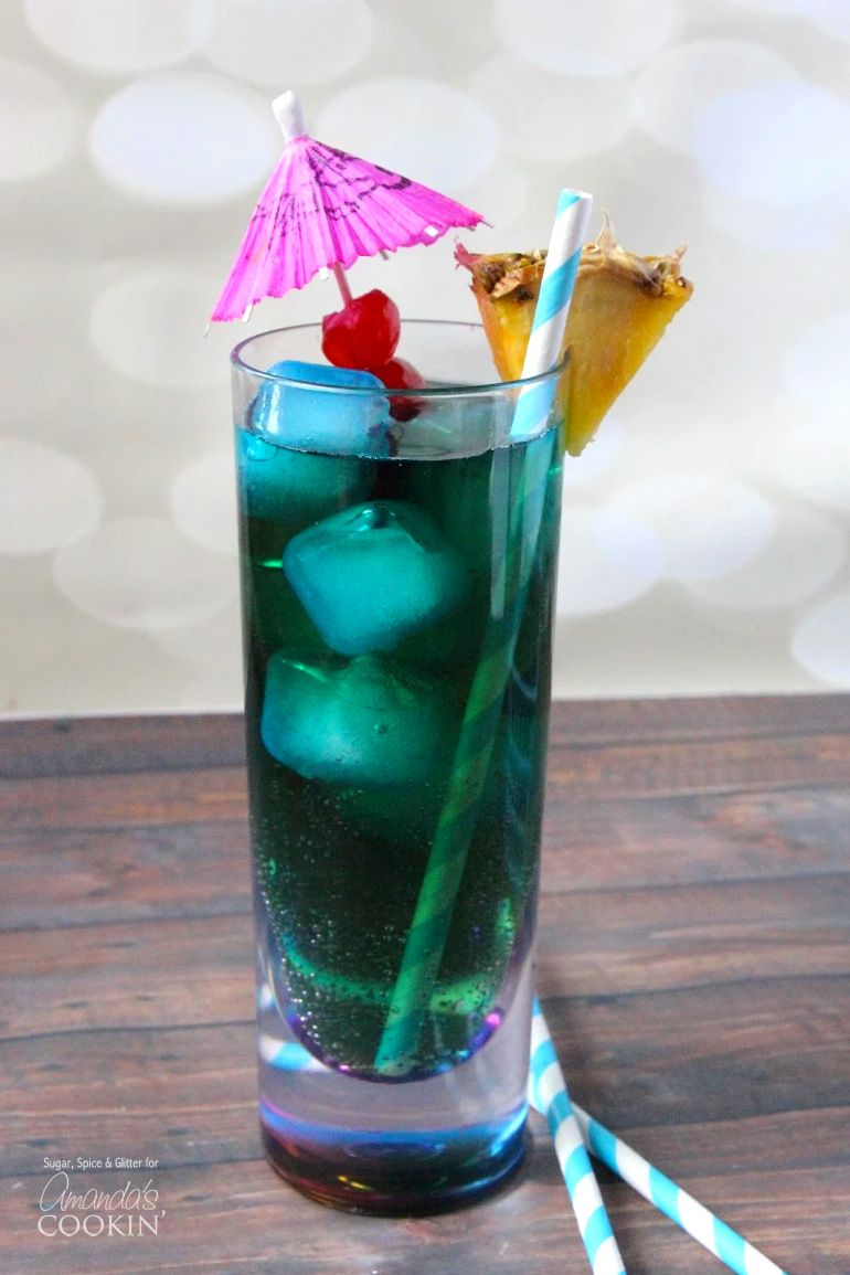 Blue drinks are popular, and this Blue Mermaid Cocktail is fun, if ...