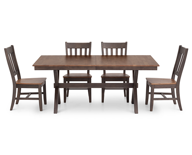 Hudson Park 5 Pc 72 X Base Rectangular Dining Group