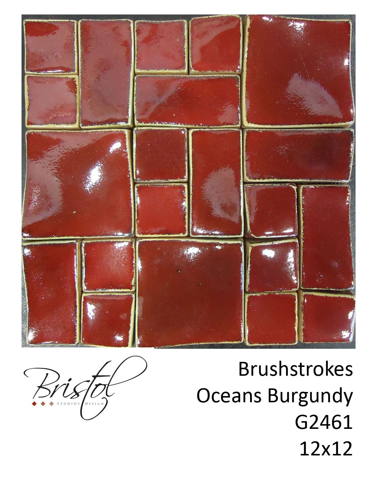 Brushstrokes oceans burgundy dimensions handmade ceramic tile brushstrokes oceans burgundy dimensions handmade ceramic tile tuosogno lajolla ceramic handmade doublecrazyfo Image collections