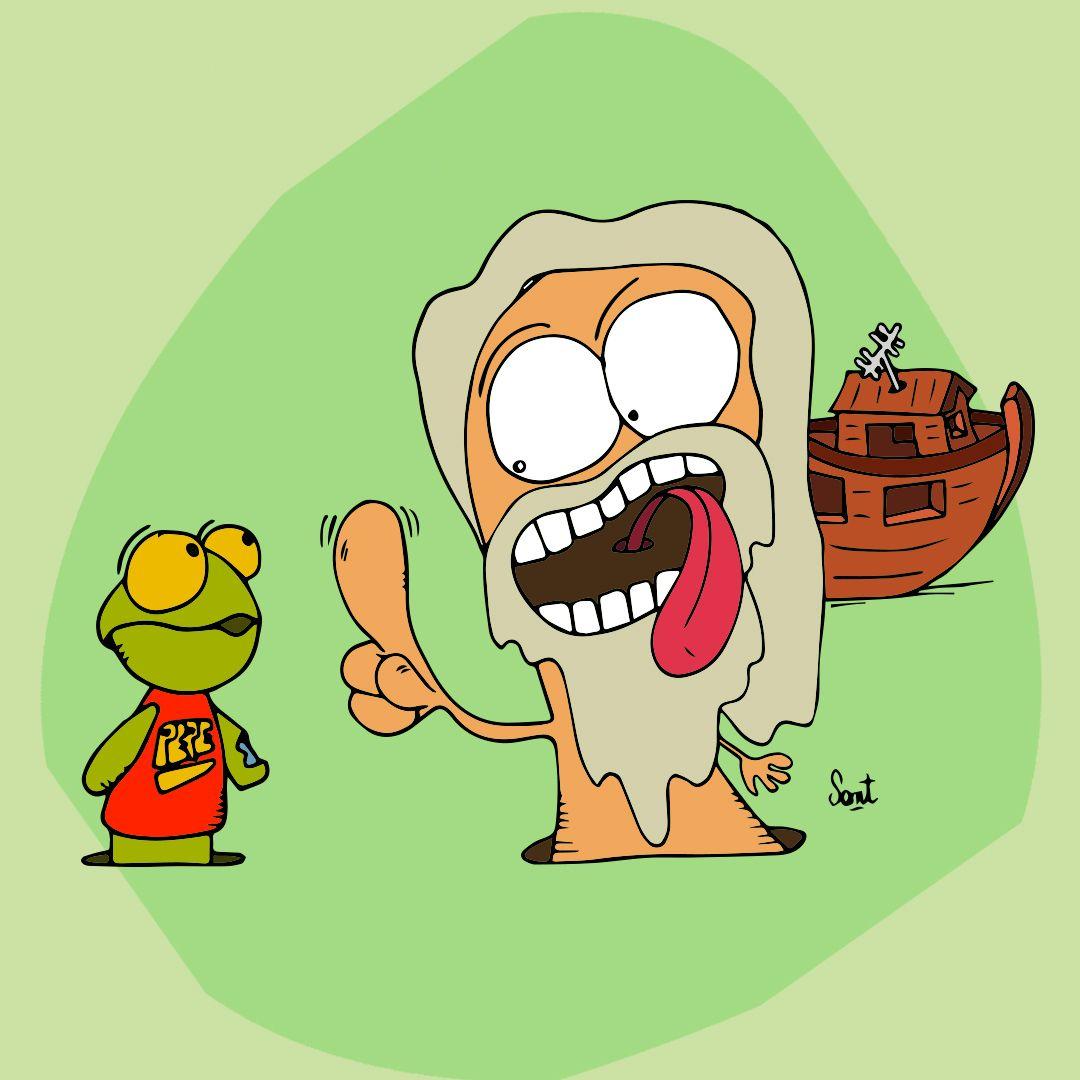 El Garca de Noe no deja entrar al sapo Pepe...