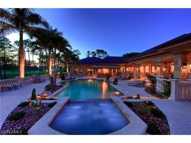 13487 Rosewood Naples Fl 34119 Stunning Pool Spa And Outdoor Entertaining Area In Quail Creek With Images Outdoor Entertaining Area Naples Golf Estate