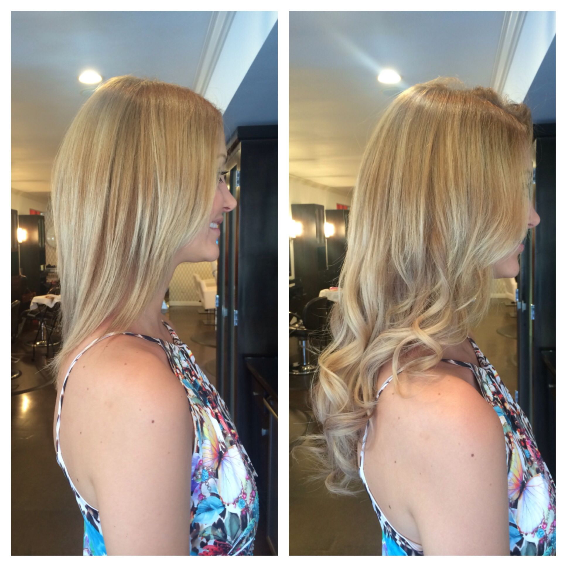 Before And After Hotheads Extensions Bella Salon Of Naples Long