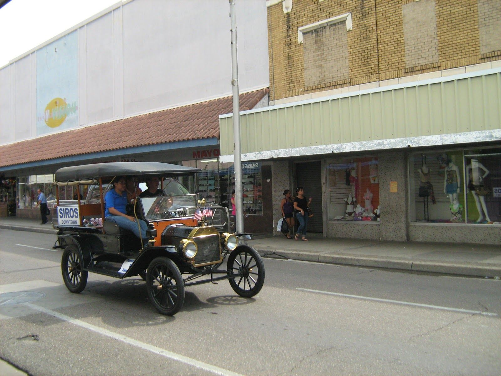 Siros store vintage car cruising on Convent Ave in downtown Laredo