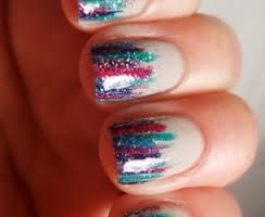 Sparkly Colorful Nails