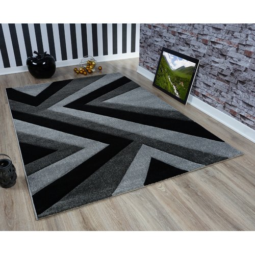 Hall Runner SILVER CHOCO GREY Width 60-120 cm ABSTRACT extra long soft RUGS