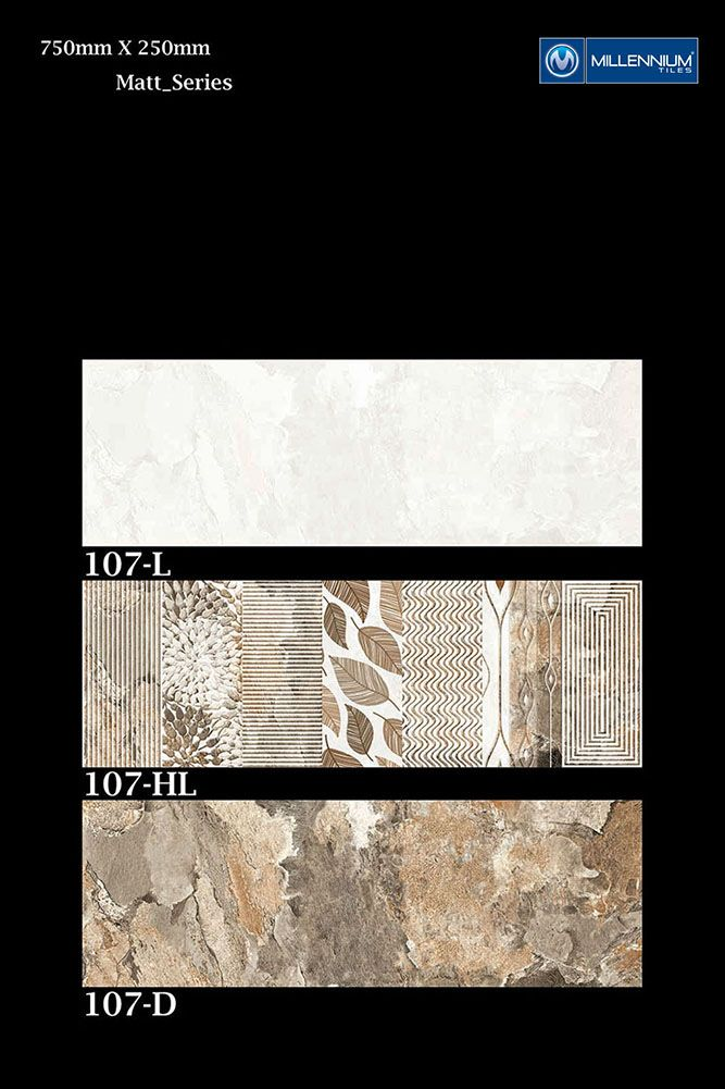 Millennium Tiles 250x750mm 10x30 Matt Ceramic Wall Tiles Series Ceramic Wall Tiles Tiles Tile Work