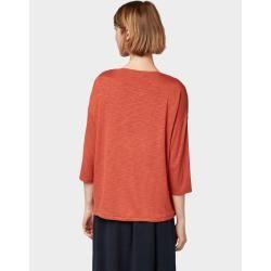 Photo of Tom Tailor damer 3/4 arm skjorte med fossefall, oransje, vanlig farge, størrelse xxl Tom TailorTom Ta