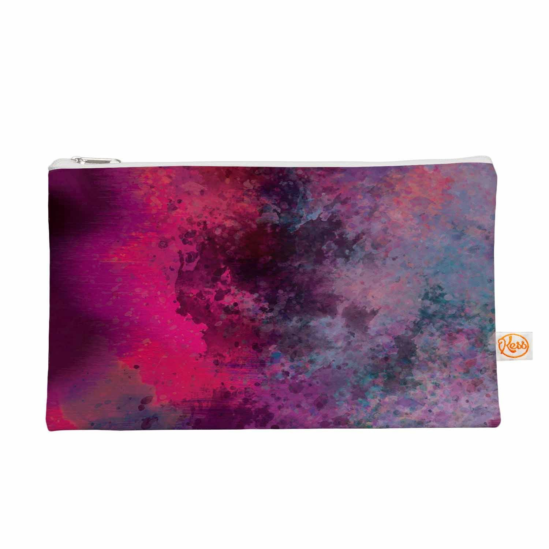 "Nina May ""Mineral Pink "" Purple Watercolor Everything Bag"