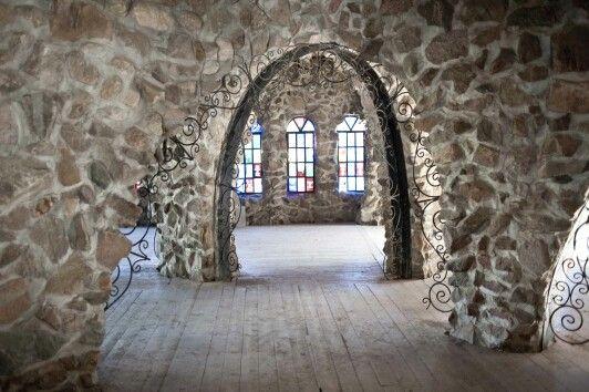 Cobblestone archways