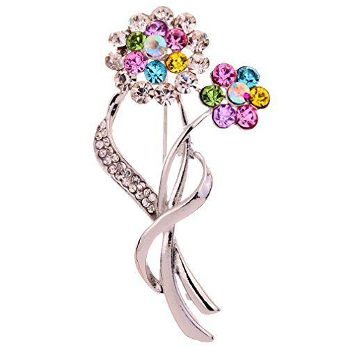 Yazilind Jewelry Silver Plated Flower Carve Sparkling Colorful Crystal Brooches and Pins Gift for Women Yazilind http://www.amazon.com/dp/B00HH971W2/ref=cm_sw_r_pi_dp_OZX8ub0NVZ3YF