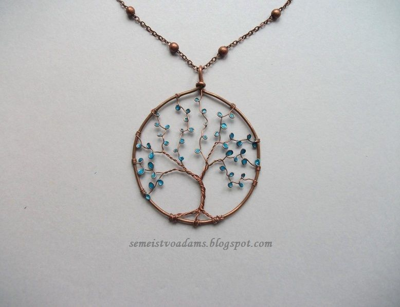 Wire tree pendant with nail polish by semeistvoadams.blogspot.com ...