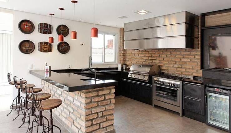 Cocinas ¡7 barras extraordinarias! Arquitetura, Moderno y Cocinas