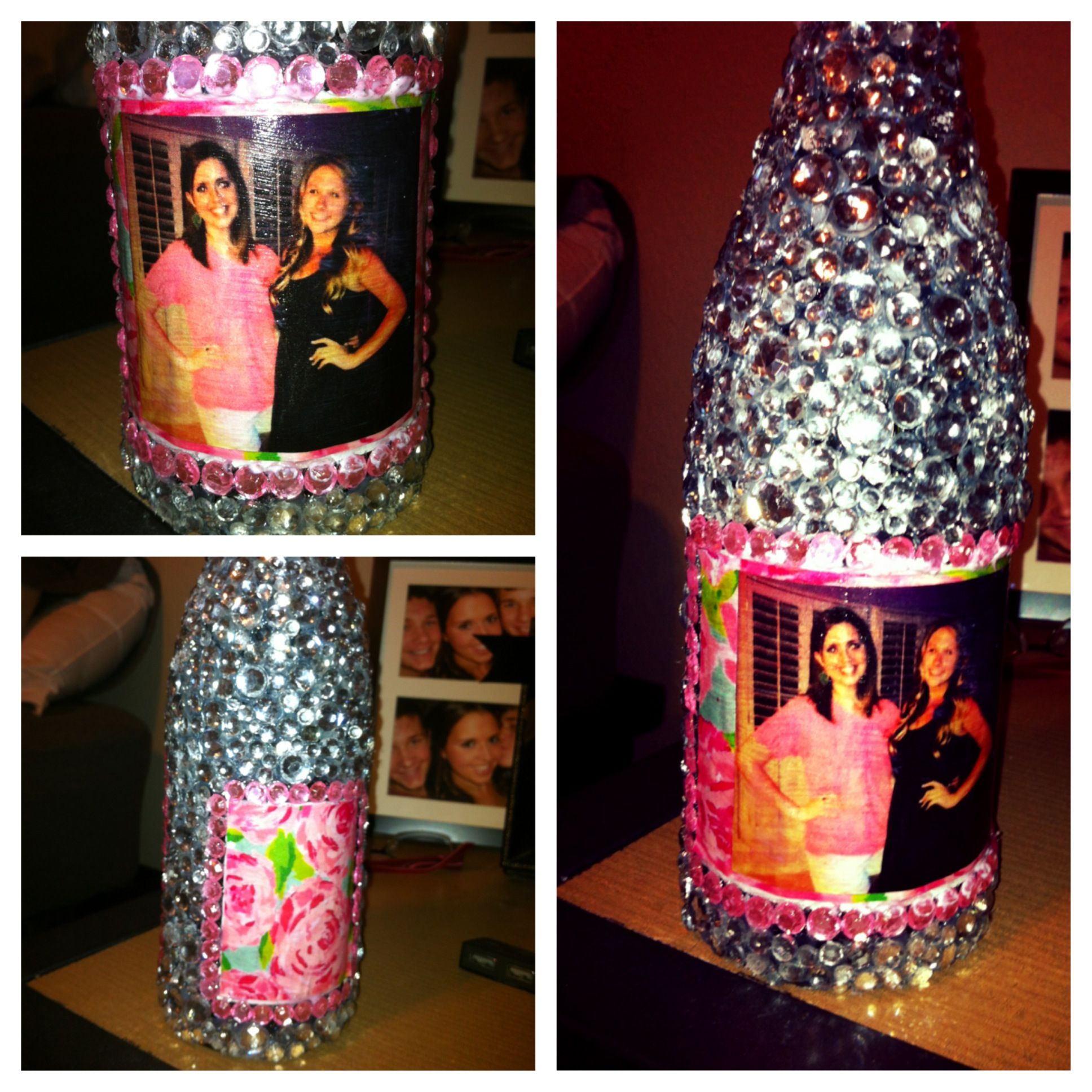 Decorated Alcohol Bottles For Birthday: Bedazzled A Wine Bottle For My Big! TSM