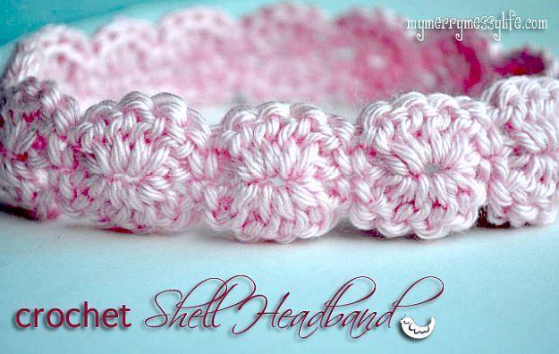 Haak Shell hoofdband |  24 Gemakkelijk Haak Patronen voor beginners aan de slag met