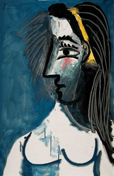 Pablo Picasso, Buste de femme nue (Tete de profil), 1963 | Art ...