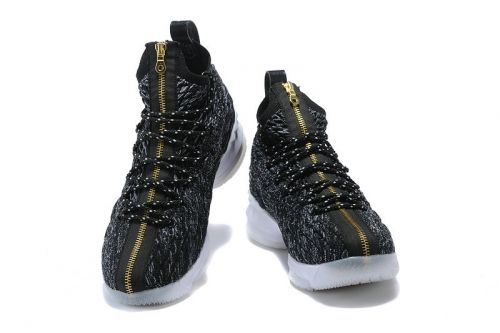 bddc1de1c1b2c Purchase Nike LeBron 15 Ashes Black Gold-White Nike LeBron 15 For Sale
