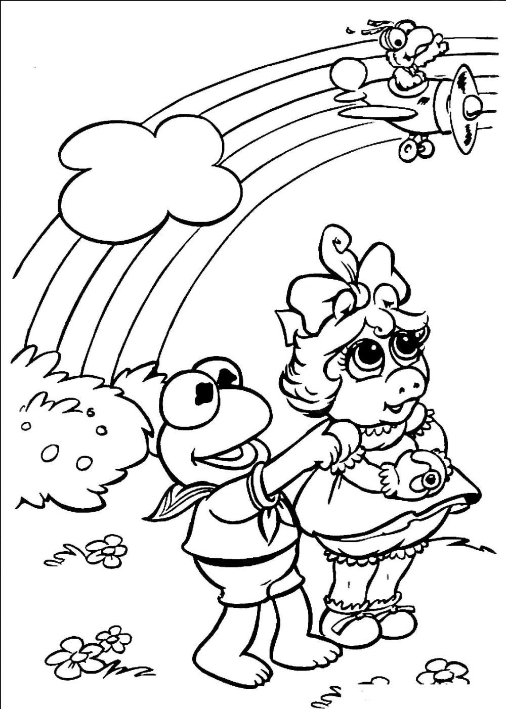 Muppet Babies Coloring Pages Coloring Pages Baby Coloring Pages