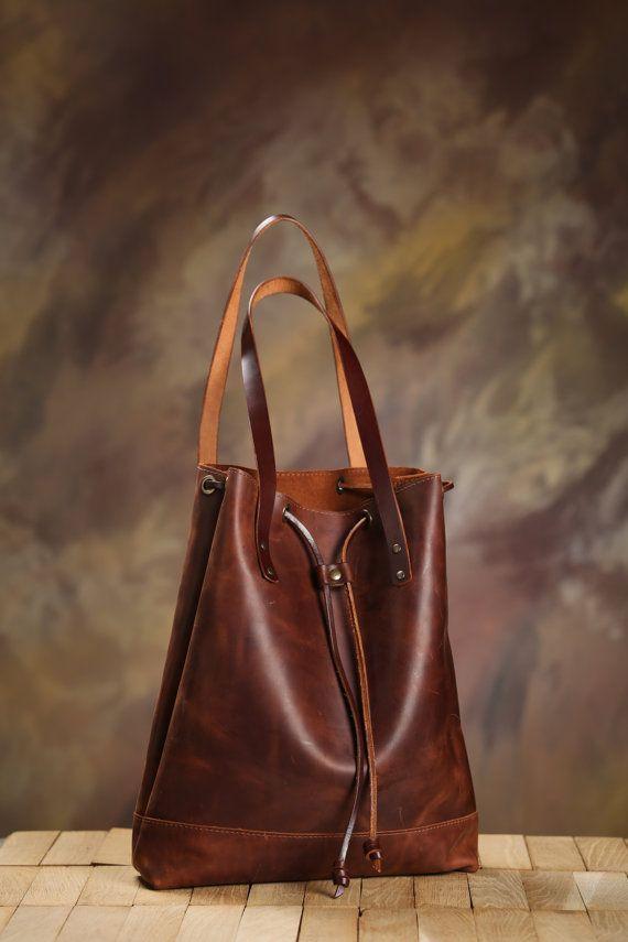 Leder Tasche Fur Frauen Vintage Aussehende Umhangetasche Boho Laptop Kordelzug Handtasche Handtasche Leder Braun Umhangetasche Leder Ledertasche Damen