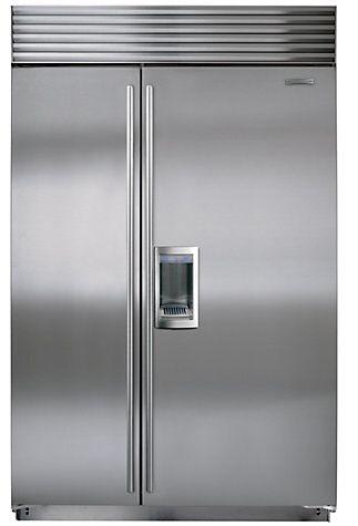 The Exterior Of The 15 000 Sub Zero Icbbi48sd S Th Integrated Side By Side Fridge Freezer Stainl Side By Side Refrigerator Glass Shelves Kitchen Refrigerator