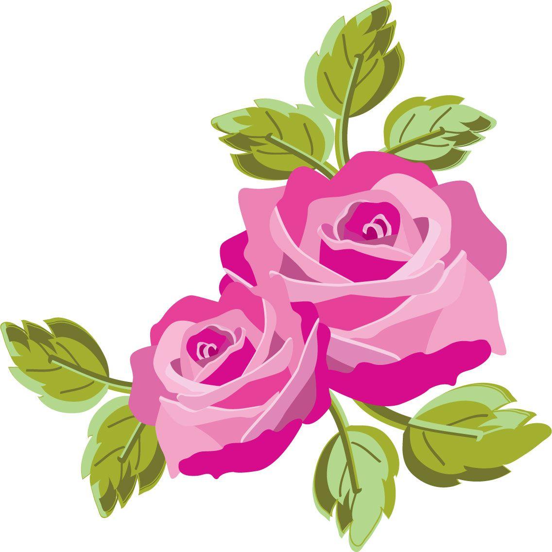 バラの画像 イラスト フリー素材 No 322 赤紫のバラ 葉 フラワーアート 薔薇イラスト 花 描き方