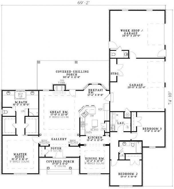 3 Bedroom 2 Bath Cottage House Plan Alp 0704 House Plans House Plans And More Ranch Style House Plans