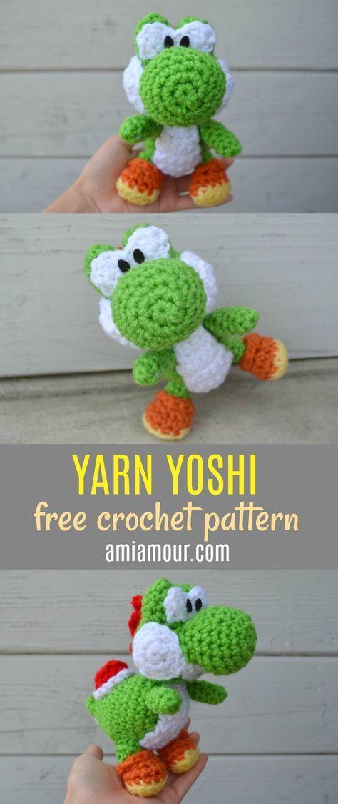 Free Yoshi Amigurumi Pattern | Patrones | Pinterest | Patrones ...