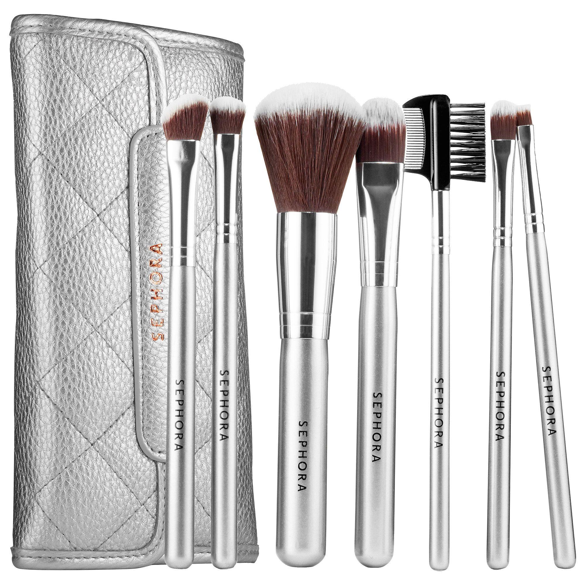 Deluxe Antibacterial Brush Set Sephora Collection Sephora My Makeup Brush Set Makeup Brush Set Powder Makeup Brush