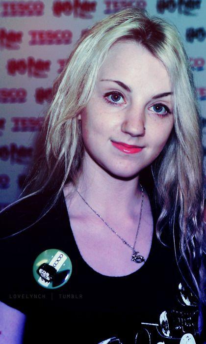 Evanna Lynch, her Snape button