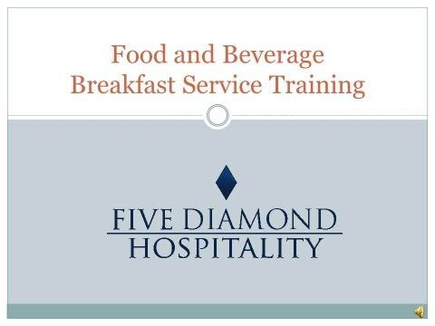 Food and Beverage Service Training (Turkish Ministry of Culture and