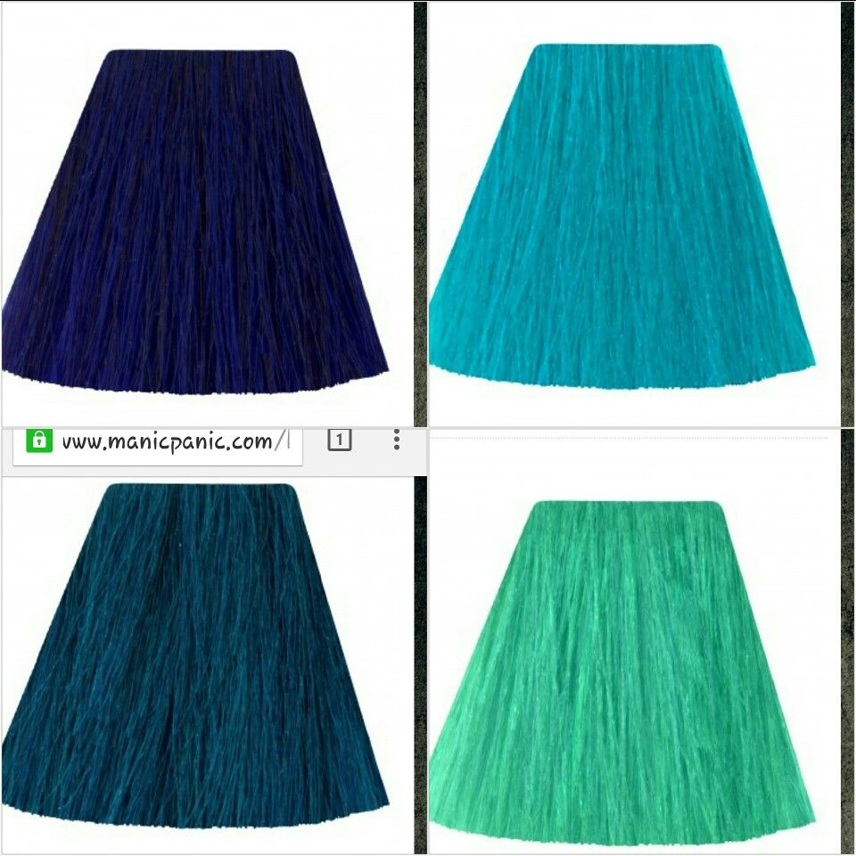 Manic Panic Shocking Blue Atomic Turquoise Voodoo Blue And Siren Song Mermaid Hair To Try Mermaid Hair Blue Hair Voodoo Blue