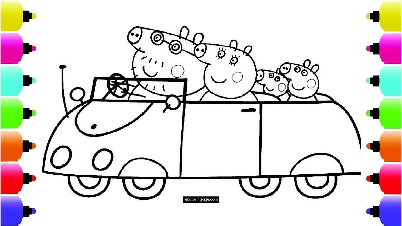 Peppa S Paintbox Peppa Pig Car Coloring Pages Cartoon Episodes 4 Pe