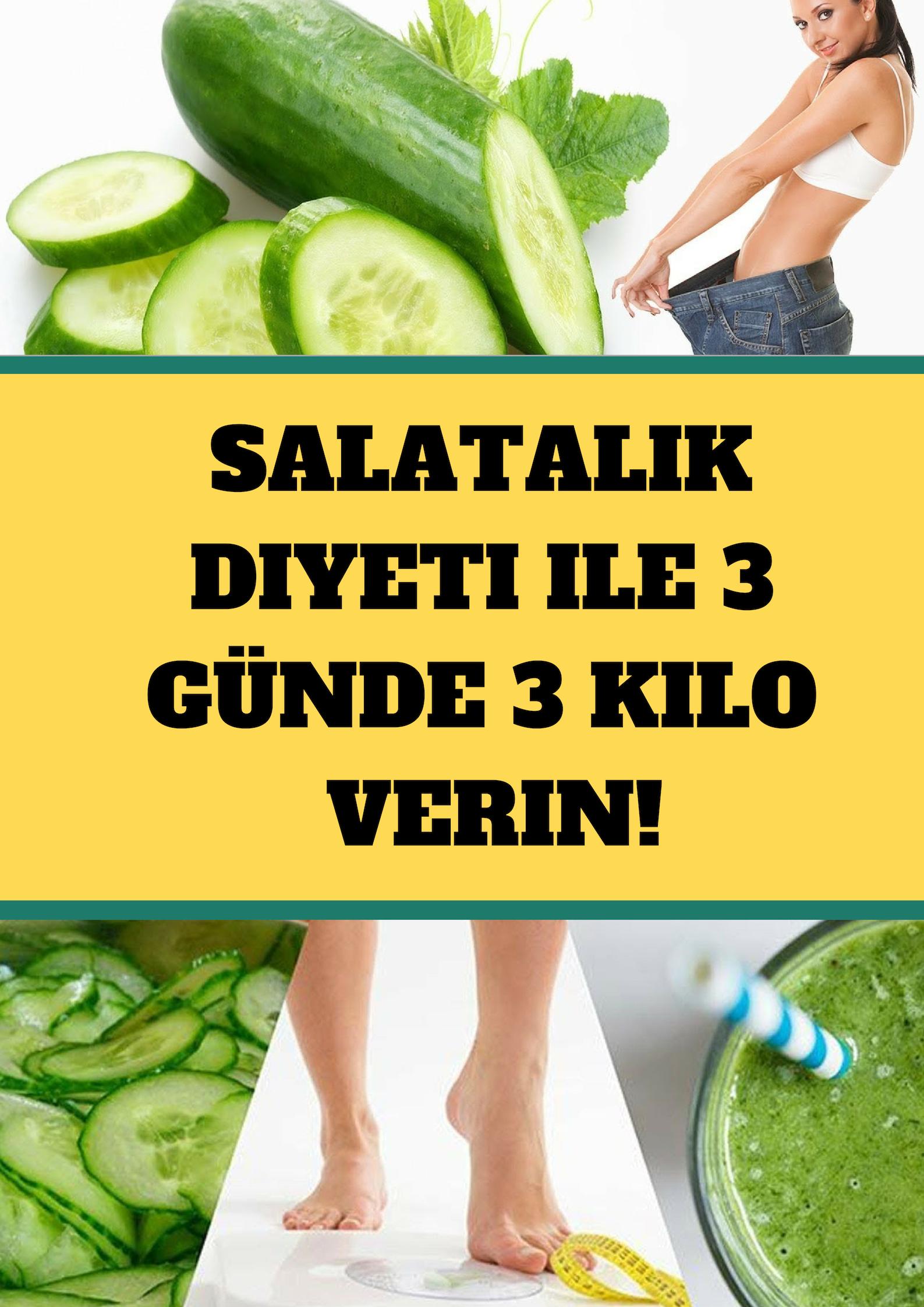 Salatalık diyeti ile 3 günde 3 kilo! #diyet #zayıflama #ödem #