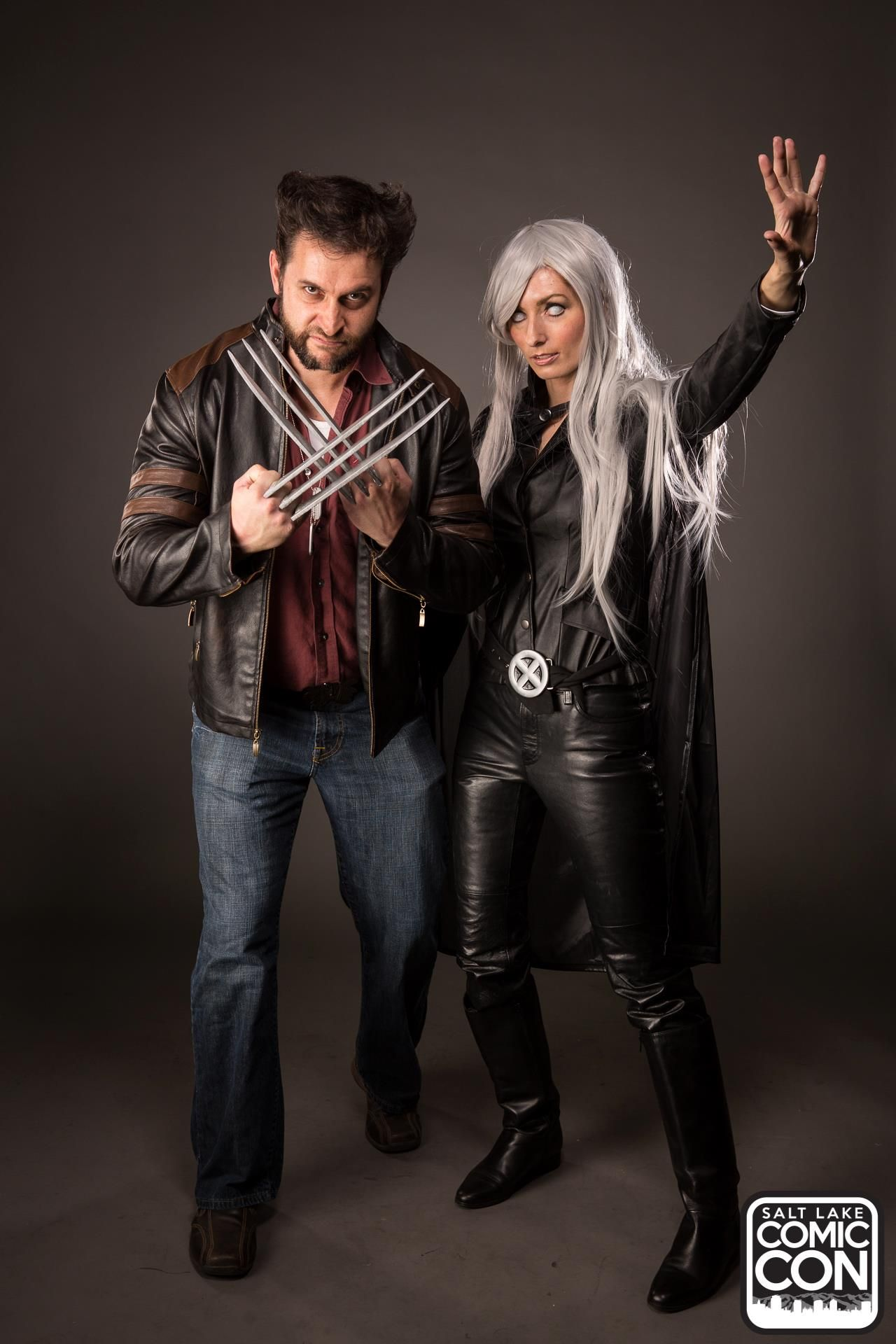 Wolverine and Storm from X-Men cosplayers at Salt Lake Comic Con 2015 · Couple Costume ...  sc 1 st  Pinterest & Wolverine and Storm from X-Men cosplayers at Salt Lake Comic Con ...