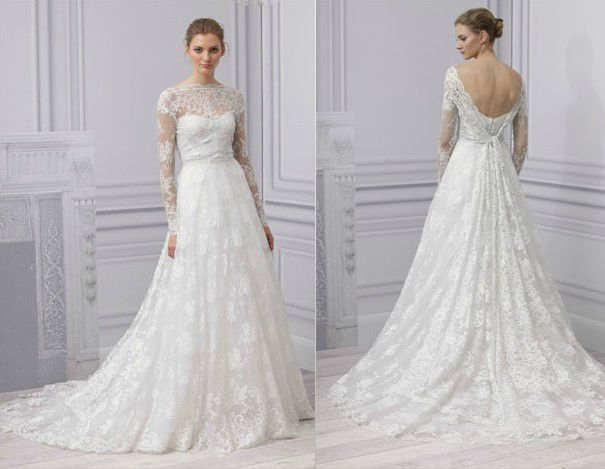 Gowns Monique Lhuillier Treasure Ball Gown With Lace Jacket I