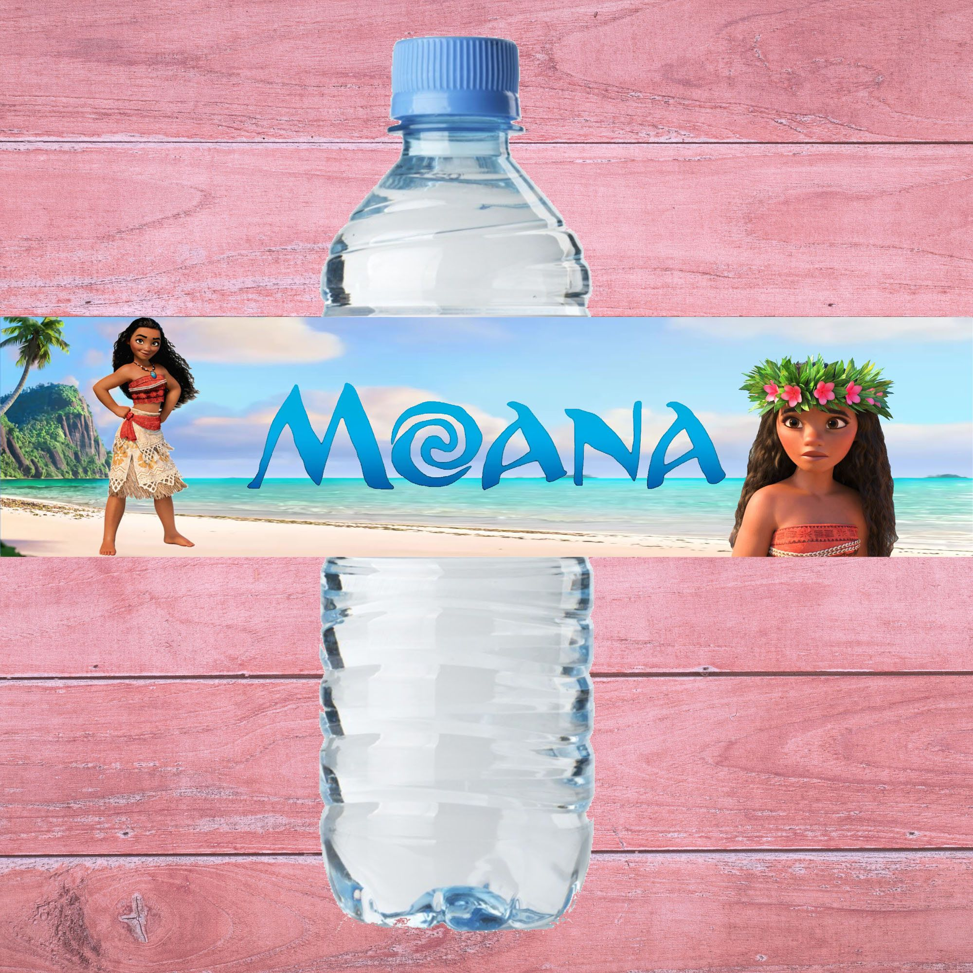 Water Bottle Label Moana Bottle Label Moana Water Bottle