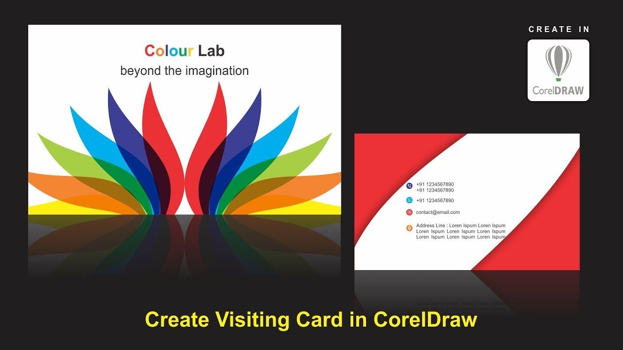 Visiting Card Design In Corel X  Coreldraw Tutorials For