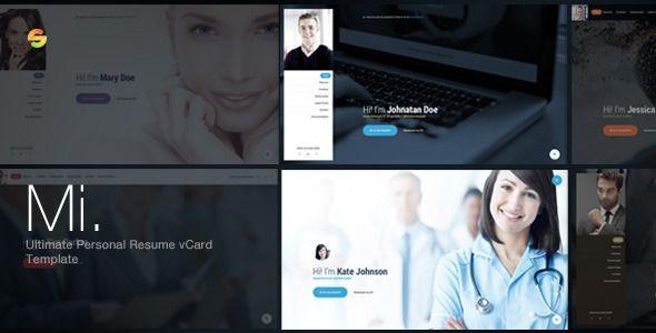 Mi - Ultimate Personal Resume vCard Template (Personal) Download - personal resume website template