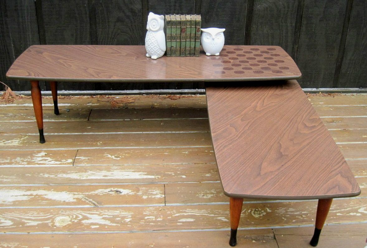 Mid Century Modern Swing Coffee Table Boomerang Table Coffee
