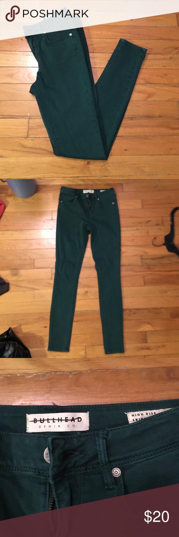 High waisted jeans Bullhead high waisted green jeans. Worn once! Bullhead Jeans Straight Leg