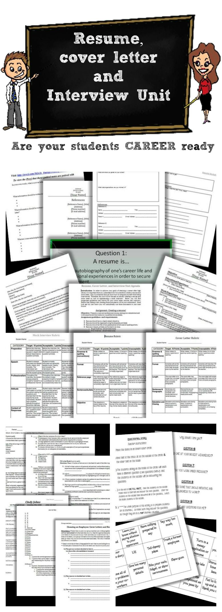 make sure your students are college and career ready with this resume cover letter
