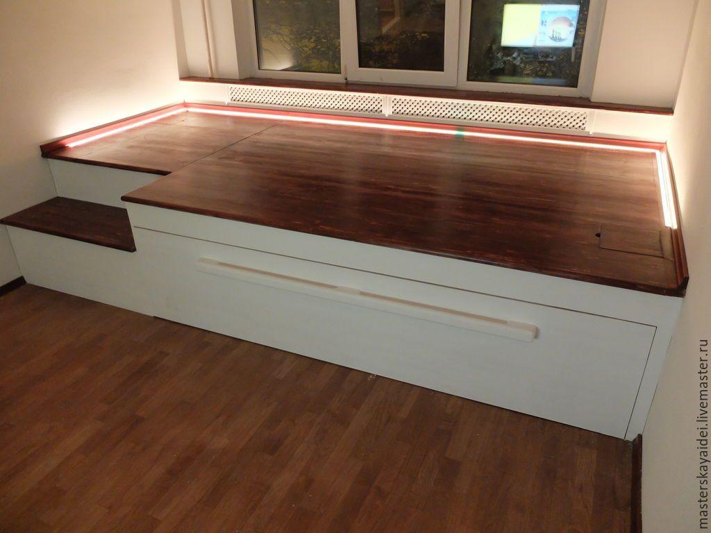Кровать-подиум с ящиками (15 фото): модели для школьников с .
