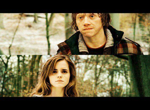 Ron and Hermione <3 my favorite couple ever