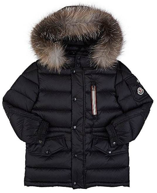 bc31594af Moncler s navy down-quilted tech-taffeta parka is trimmed at the ...